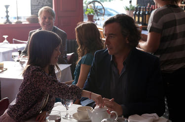 Onata Aprile as Maisie and Steve Coogan as Beale in &quot;What Maisie Knew.&quot;